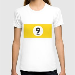9 ball yellow T-shirt