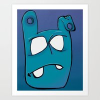 no face Art Prints featuring Face by Chris Napolitano