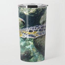 Swimming Hawaii Honu Travel Mug