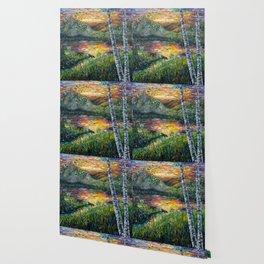 Sleeping Meadow (palette knife) Wallpaper