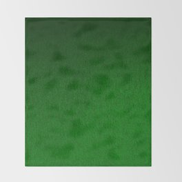 Emerald Green Ombre Design Throw Blanket