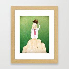 Greetings From Mr. Bird Framed Art Print