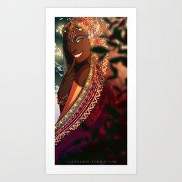 Liloe Smile Art Print