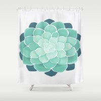 succulent Shower Curtains featuring Succulent by Isotta Pavarin
