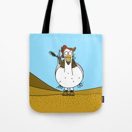 Eglantine la poule (the hen) disguised as a dromedary Tote Bag