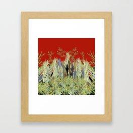 In A Zombie Garden Framed Art Print