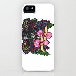 Capricious Beauty (Botanical Bliss) iPhone Case
