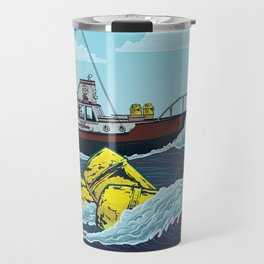 Jaws: Orca Illustration Travel Mug
