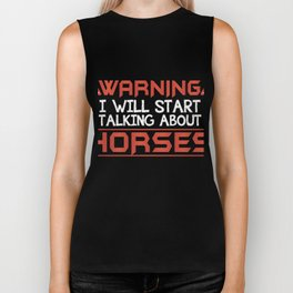 Perfect Gift Ideas For Horse Lover. Biker Tank