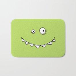 Happy Green Monster Bath Mat