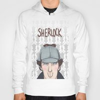 sherlock Hoodies featuring Sherlock by enerjax