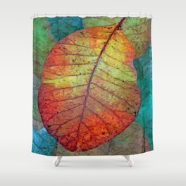 Fallen leaves II Shower Curtain