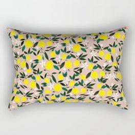 Juicy Lemons Pink Rectangular Pillow