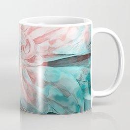 Abstract Floral Teal Coffee Mug