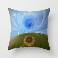wind Throw Pillows featuring Wind by Sébastien BOUVIER