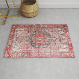 N62 - Vintage Farmhouse Rustic Traditional Moroccan Style Artwork Rug