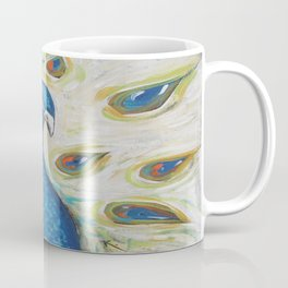 Peacock with White Coffee Mug