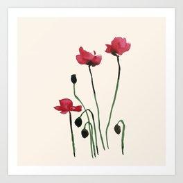 Poppy Mourning Art Print