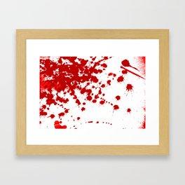 Red Splatter Framed Art Print