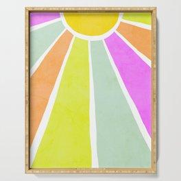 Bright Sunshine Rainbow #positiveart Serving Tray