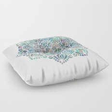 Mandala Mermaid Sea Floor Pillow