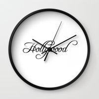 hollywood Wall Clocks featuring Hollywood by Blocks & Boroughs