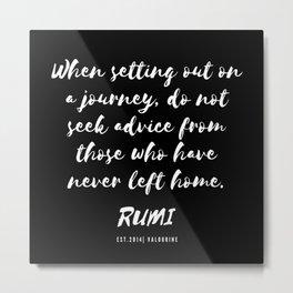 33  Rumi Quotes Good Vibes 190514 Metal Print