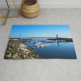 Bridge across the Ice Lagoon Iceland Rug