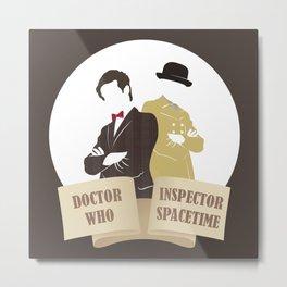 Doctor Who & Inspector Spacetime Metal Print