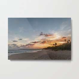 When the Sun Sets   Sri Lanka Beach   Travel Photography Metal Print