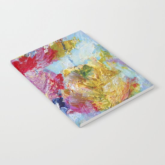 Abstract floral painting 5 Notebook