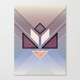 Tangram Lotus For Canvas Print