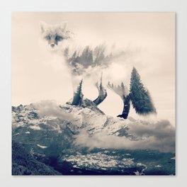 Fox Mountain Walker Canvas Print