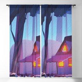 Spooky Backwoods Cabin  Blackout Curtain