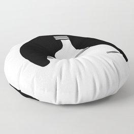 Ribera Navarra. Castildetierra Black & white Floor Pillow