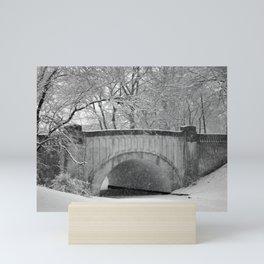 Snow Bridge Mini Art Print