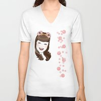 bubble V-neck T-shirts featuring Bubble by AnnaCas