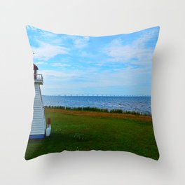 Acadian Playhouse in PEI Throw Pillow