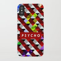 psycho iPhone & iPod Cases featuring PSYCHO by Tia Hank