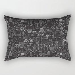 Simple things negative Rectangular Pillow