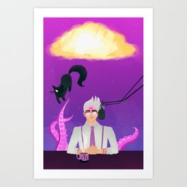 All hail the mighty Glow Cloud! Art Print