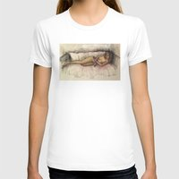 contemporary T-shirts featuring Contemporary nude by Frances Roughton
