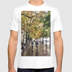 Stroll with me White Mens Fitted Tee MEDIUM