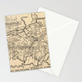 Vintage Great Smoky Mountains National Park Map (1941) Stationery Cards
