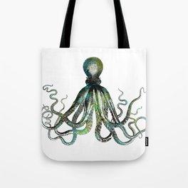 Octopus marine life watercolor art Tote Bag