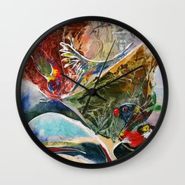 Rainbow Dance Wall Clock