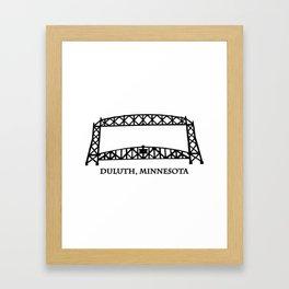 Duluth, MN Aerial Lift Bridge Framed Art Print