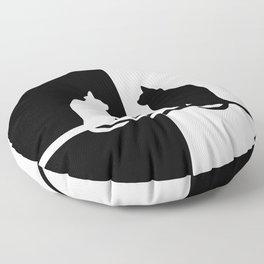Black and White 81 Floor Pillow