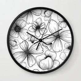 Floral Wallpaper: 1 Wall Clock