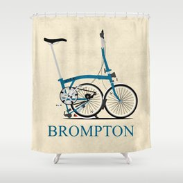 Brompton Bike Shower Curtain
